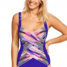 Sky Blue Utopia Shaped Square Neck One Piece swimsuit