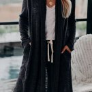 Black Slouchy Pocketed Knit Longline Cardigan