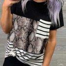 Snake Striped Camo Pocket T Shirt