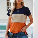 Orange Contrast Colorblock T Shirt