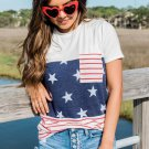 Stars and Stripes Colorblock Tee