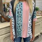 Loose Colorblock Leopard Print T Shirt