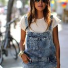 Blue Denim Overall Shorts