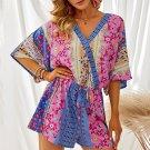 Floral Mix Kimono Sleeve Romper
