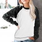 White Camo Print Long Sleeve Sweatshirts