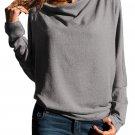 Gray Concise Pullover Sweatshirt