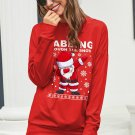 Red Ugly Christmas Cartoon Print Sweatshirt