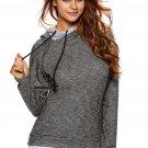 Heather Charcoal Double Hooded Sweatshirt