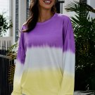 Modena Color Block Tie Dye Pullover Sweatshirt