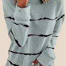 Tie dye Stripes Gray Sweatshirt