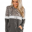 Gray Into the Jungle Color Block Hoodie