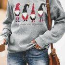Just hangin with my gnomies Pattern Sweatshirt