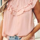 Frilled Detail Tulle Tank Top