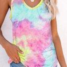 Multicolor Tie Dye Knit Tank