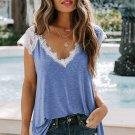 Blue Lace Knit Tank