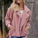 Pink Niagara Falls Pocketed Sherpa Jacket