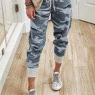 Gray Camo Print Knit Sport Pants