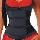Black Zipper Front 9 Steel Bones Neoprene Belt Waist Trainer