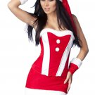 Red Velvet Bustier Christmas Costume Set