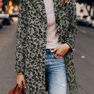 Leopard Print Lapel Coat