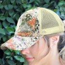 Women's Fashion Sequins Adjustable Mesh Splicing Baseball Cap