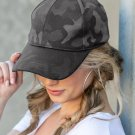 Gray Camouflage Korean Style Peaked Cap