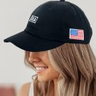 Black American Flag USA Independence Day Letter Embroidered Cap