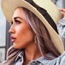Beige Bow Band Straw Hat