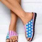 Flag Print Flip Flop Sandals