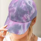 Purple Tie dye Ponytail Baseball Cap