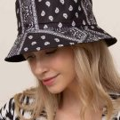 Black Printed Double-sided Fisherman Hat