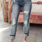 Bleach Splatter Boyfriend Straight Jeans