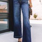Blue Wide Leg High Rise Jeans