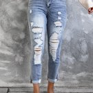 Sky Blue High Waist Distressed Skinny Jeans