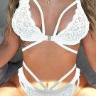 White Strappy Lace Bralette Set