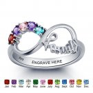 Infinity Personalized Engraved Silver Ring (RI101787)