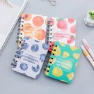 """Sweet Fruits"" 1pc Cute Small Diary Pocket Notebook Memo Pad Mini Journal Spiral"