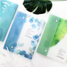 """Green Leaves 8"" 1pc Document File Folder 8 Big Pockets Expanding File Organizer"