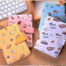 """Summer Cat"" 1pc Journal Diary Notebook Lined Blank Papers Faux Leather Cover"