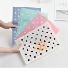 """Little Dots"" File Folder Pack of 4 One Layer A4 Plastic Document Study School"