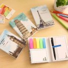 """Europe Tour"" 1pc Sticky Notes Stickers Cute Study Work Adhesive Pad Memo"