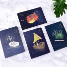 """""""Moonlight Baron"""" 1pc Beautiful Notebook Sketchbook Blank Papers Drawing Notepad"""