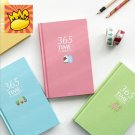 """Cute 365"" 1pc Planner Agenda Study Journal Lined Notebook Hard Cover Diary Memo"