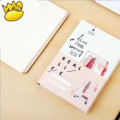 """Real Life"" 1pc Planner Notebook Big Study Journal Business Agenda Hard Cover"