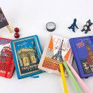 """Landmarks"" 1pc Hard Cover Diary Notebook Lined Freenote Study Travel Journal"