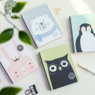 """Cute Life"" 1pc Hard Cover Blank Freenote Kawaii Animals Notebook Diary Gift"