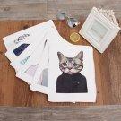 """Cute Cat"" 1pc Kawaii File Folder Big Size Canvas Document Laptop Shopping Bag"