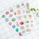 """""""Succulent ver.2"""" 6pcs Pack Cute Scrapbooking Stickers Papers Decor Sticker Gift"""