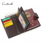 CONTACT'S Genuine Leather Mens Passport Holder Wallets Credit&Id Car Wallet