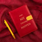 """Dreams Happen"" 1pc Luxury Leather Notebook Monthly Weekly Planner Daily Agenda"